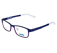 MUSENNA Unisex Transparent Lens Black Frame Rectangle Eyeglasses