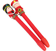 Chinese Empress And Emperor Polymer Clay Pen (2PCS Random Color)