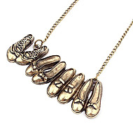 Eruner®Gun Color Planted Retro Shoes Combination Necklace