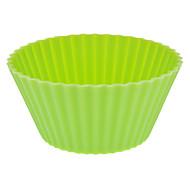 Округлые Красочные Силиконовые Кубок торт прессформы (случайный цвет)