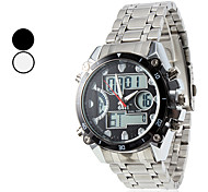 Men's Chronograph Calendar Style Steel Digital Automatic Multi-Movement Wrist Watch (Assorted Colors)