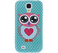 Lovely Owl Design Weiche Tasche für Samsung Galaxy i9500 S4