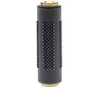 Banhado a ouro 3,5 milímetros F / M Stereo Jack Adaptador