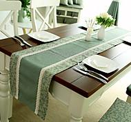 Style Pays Américain Cyan Vérifiez polyester / coton Chemins de table