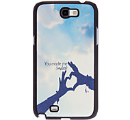 You Made Me Complete Pattern PU Leather Hard Case for Samsung Galaxy Note 2 N7100