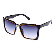Men's Gradient Lens Yellow & Black Frame UV400 Protection Square Sunglasses