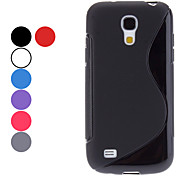 S Shape Soft Case voor Samsung Galaxy S4 mini I9190 (Assorted kleuren)