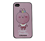 Cartoon lovely Rabbite Bird Pattern Hard Case for iPhone 4/4S