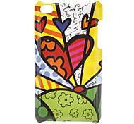 Hearts Pattern Hard Case for iPod touch 4