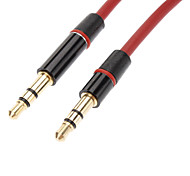 3.5mm macho a macho Cable de audio rojo (1.3M)