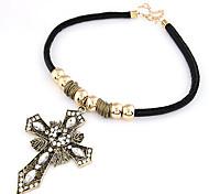 Vintage Alloy Cross Pendant Necklace
