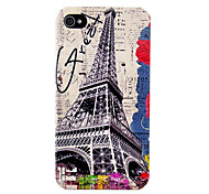 Vintage Eiffel Tower Flower Pattern Hard Case for iPhone 4/4S