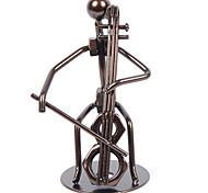 Серебряная Iron Art ручной Мужской игрока виолончели