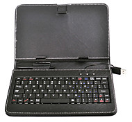 USB Keyboard Bracket Leather Case met standaard voor 7 inch Tablet PC