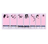 2PCS Nail Art Nail Stickers Multi-style Pink