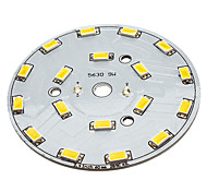 9W 18x5630SMD Quente White Light Base de alumínio LED Emissor (29-31V)