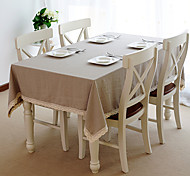 Beige Linen Rectangular / Square Table Cloths