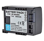 DSTE BP-808 7.4V 900mAh литий-ионная аккумуляторная батарея для Cannon FS11/FS100/HF200/HFS10/HFS100 - черный