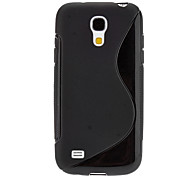 S-forme de conception Etui TPU durable pour Samsung Galaxy S4 Mini I9190 (couleurs assorties)
