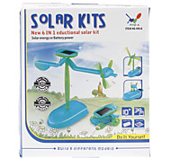 6-in-1 DIY Educational Solar-Neuheit aktualisierten Assembly Toys