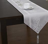 Classique Floral Jacquard Polyester Runners mélange de coton de table