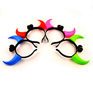 Light-up Devil Horn Hair Clasp Concert Props(Assorted Colors)