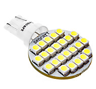 T10 1W 24x3528SMD lampadina di bianco LED per lampade per auto (12V DC)