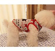 Star Pattern Round Collar Dog Vest