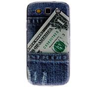 Blue Jeans Pattern Hard Case für Samsung Galaxy S3 I9300