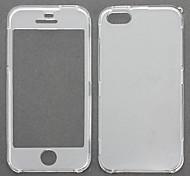 Custodia integrale ultra sottile, trasparente, per iPhone 5/5S