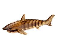 Wooden Brown Shark Toy