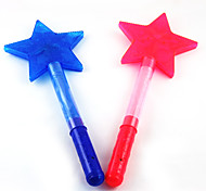 3-Mode Flashing Five-pointed Star Glow Stick Concert Props(Assorted Color)