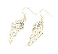 The Wing Of Angel Shaped Alloy Zircon Earrings