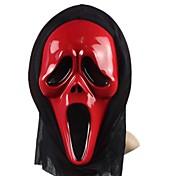 Screaming Red PVC Halloween Mask