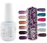 YeManNvYou®1PCS Sequins UV Color Gel Nail Polish No.229-240 Soak-off(15ml,Assorted Colors)
