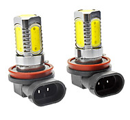 H9 7W 500LM 5-LED White Car Nebelscheinwerfer (DC 12-24V, 1-Pair)