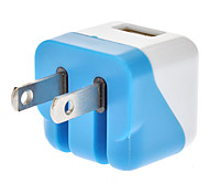 USB 2.0 Female US AC Power Adapter White&Blue