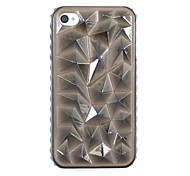 Punk Style Triangle Pattern Hard Case for iPhone 4/4S(Assorted Colors)
