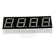 Compatible (For Arduino) 4-Digit 12-Pin Display Module - Black
