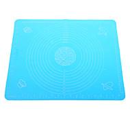 Big Size Silicone Pad Mat cozimento com marcas (cor aleatória)