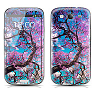 Flower Tree Pattern Front and Back Protector Stickers for Samsung Galaxy S3 I9300