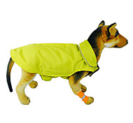 Cat Dog Coat Vest Red Orange Yellow Blue Black Rose Dog Clothes Winter Spring/Fall Solid Windproof Keep Warm