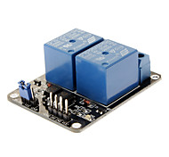 2-Channel Relay Shield Module for (For Arduino) - Red + Blue