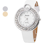 Women's PU Analog Quartz Bracelet Wrist Watch (Assorted Colors)