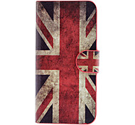 The Union Jack Pattern Full Body Case with Card Slot and Built-in Matte PC Back Cover for iPhone 5/5S