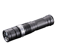 LED Flashlights 1 Mode 550 Lumens Adjustable Focus / Waterproof / Impact Resistant / Nonslip grip / Anglehead Cree XM-L T6 AA / CR123A