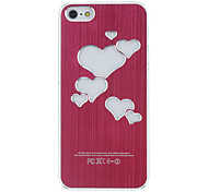 Heart Shaped Colorful LED Flash Light Hard Case Cover For iPhone 5/5S