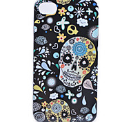 Coloured Drawing Skull Pattern Back Case for iPhone 4/4S