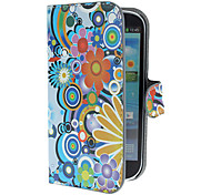 Fiori squisiti e Circles Pattern PU custodia in pelle con supporto e Card Slot per Samsung Galaxy S3 I9300