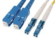 Fiber Optic Cable M/M LC/SC DSM Multi Mode Duplex Cable 9/125 Type 2.0mm Yellow (5M)